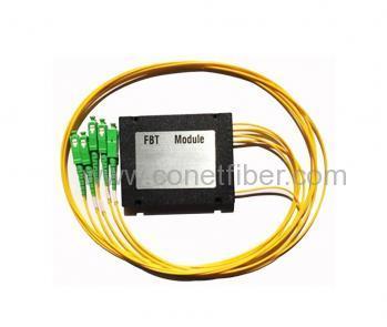 1*4 FBT Coupler -Input 250um Bare Fiber, Output 0.9 SC/UPC