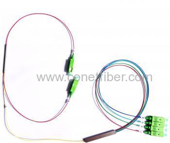 1x2 Coupler 30:70, 30% for Input of 1x4 PLC Splitter SC/APC
