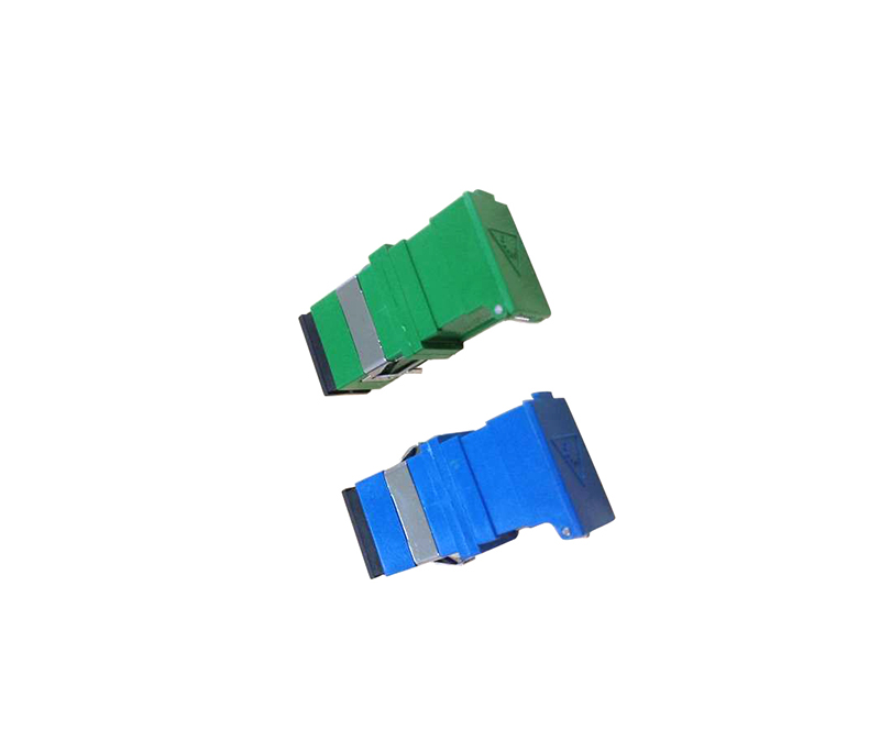SC Fiber Optic Adapter with Slide Shutter
