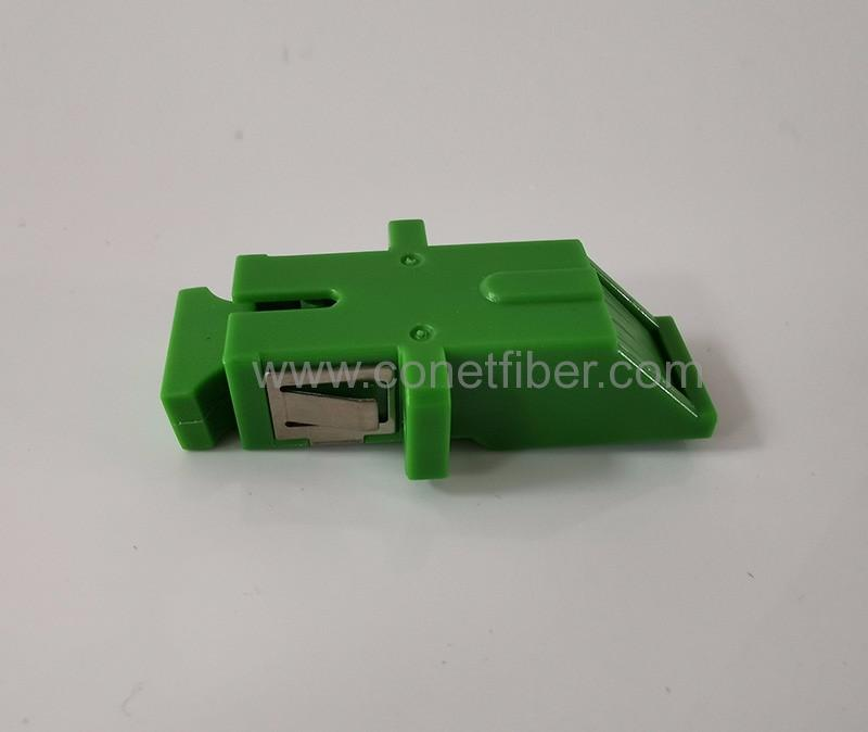 SC Fiber Optic Adapter with Integrated Shutter