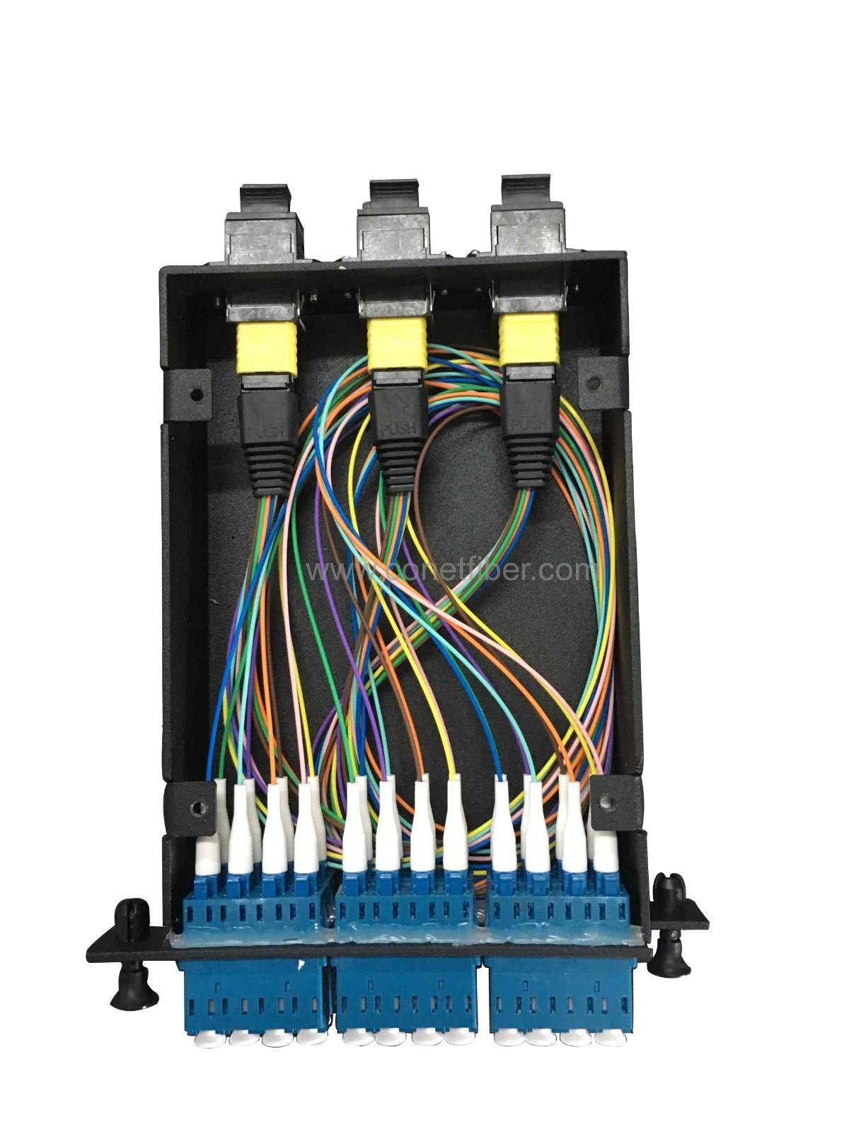 4pcs MTP LGX in 1U Rack