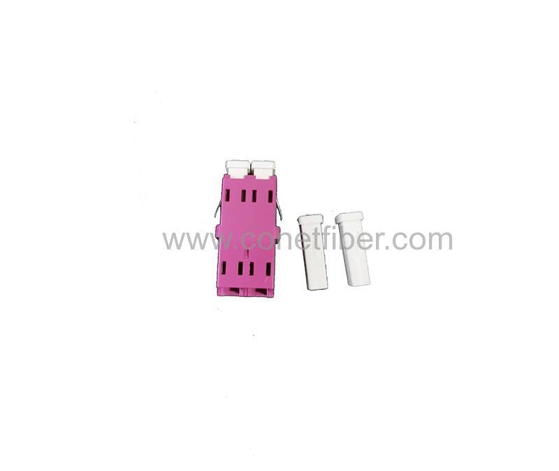 LC DX MM OM4 Adapter Short Flange