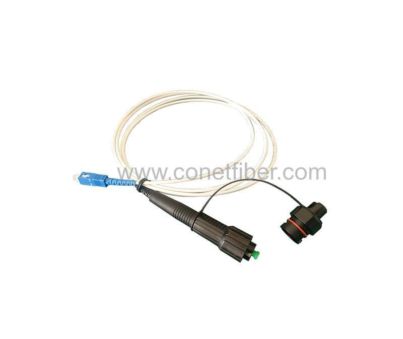 Mini SC to SC UPC 3.0mm 2M LSZH white Cable