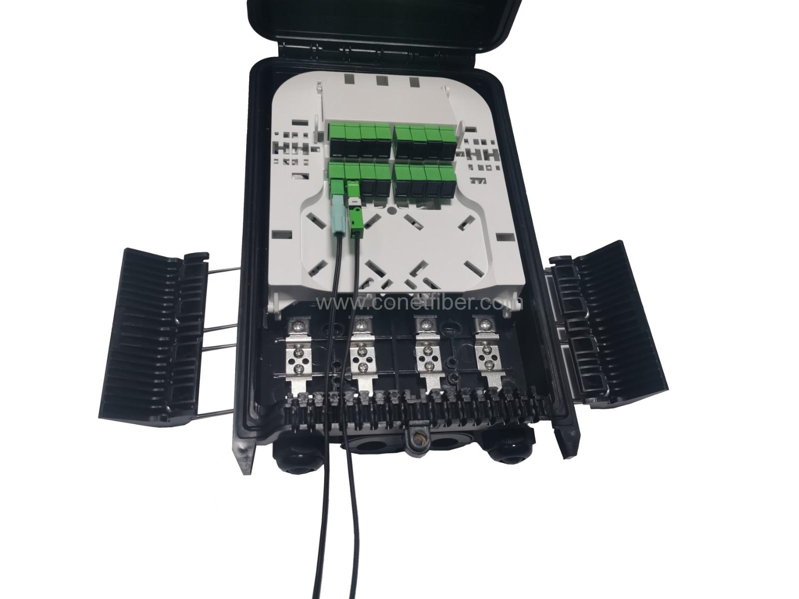 FTTH terminal 16B with splitter